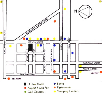 L Fisher Hotel Map