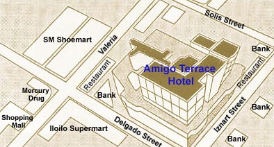 Amigo Terrace Hotel Map