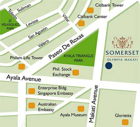 Somerset Olympia Makati Map
