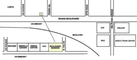 Boulevard Mansion Hotel and Residential Suites Map