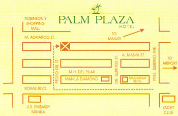 Palm Plaza Hotel Manila Map
