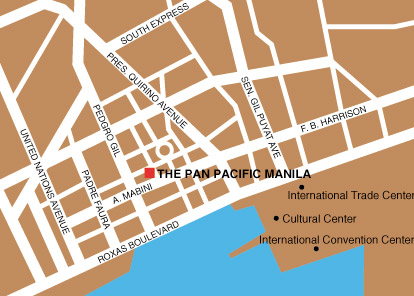 Pan Pacific Hotel Manila Map