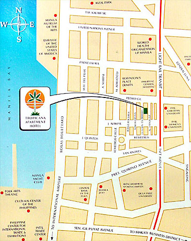 Tropicana Apartment Hotel Map