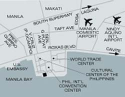 Westin Philippine Plaza Map