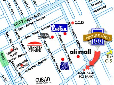 Fernandina 88 Suites Hotel Map