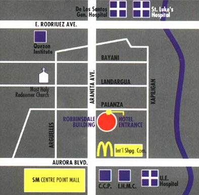 Robbinsdale Hotel Map